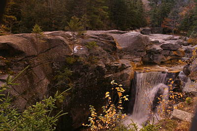 Photograph - An Artistic View Of Screw Augar Falls,maine by Rusty R Smith