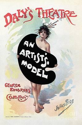 Raspberry Drawing - An Artist's Model Daly's Theatre London by Heidi De Leeuw