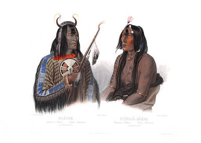 Painting - An Assiniboin Indian And A Yanktonan Indian by Wall Art Prints