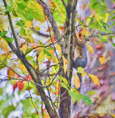 Painting - An Autumn Climb by Kerri Farley