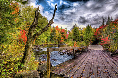 Photograph - An Autumn Day At Indian Rapids by David Patterson