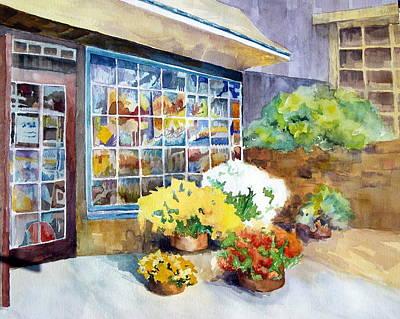 Mums Painting - An Autumn Day At Peddler's Village by Karen Liebman