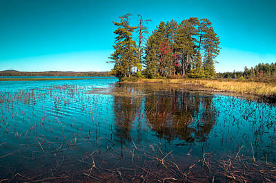 Photograph - An Autumn Day At Raquette Lake by David Patterson