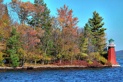 Fall Colors Photograph - An Autumn Day At The Lighthouse by David Patterson