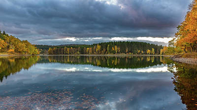 Photograph - An Autumn Evening At The Lake by Andreas Levi