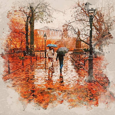 Painting - An Autumn Full Of Magic - 02 by Andrea Mazzocchetti