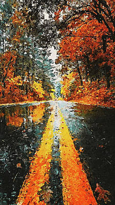 Painting - An Autumn Full Of Magic - 05 by Andrea Mazzocchetti