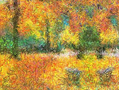 Digital Art - An Autumn In The Park by Mario Carini