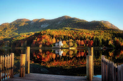 Photograph - An Autumn Lakeside View by Pixabay