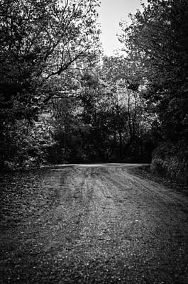 Photograph - An Autumn Landscape - Bw by Andrea Mazzocchetti