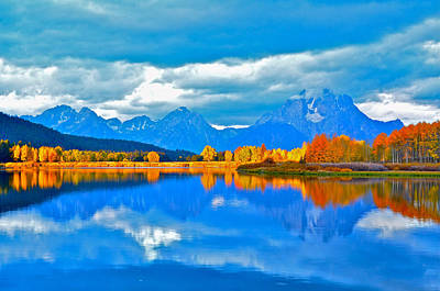 Photograph - An Autumn Morn At Oxbow Bend by Don Mercer
