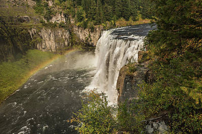 Photograph - An Autumn Morning At Mesa Falls by Yeates Photography