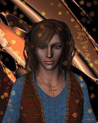 Digital Art - An Autumn Portrait by Judi Suni Hall