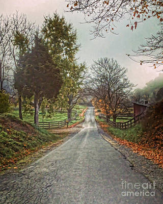 Photograph - An Autumn Road by Kerri Farley