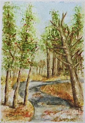 Painting - An Autumn Stroll by Laurie Morgan