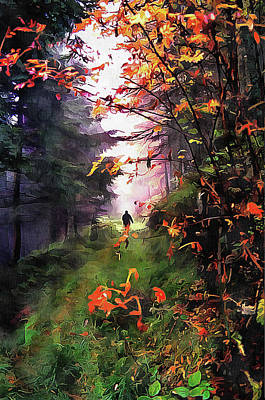Digital Art - An Autumn Walk by Dorothy Berry-Lound