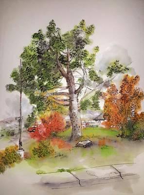 an Autumnal trip to town album Art Print