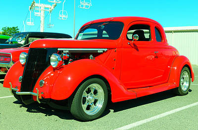 Hand Made Photograph - An Awesome Red Hot Rod by Jeff Swan
