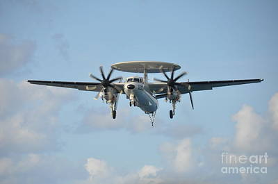Aircraft Carrier Painting - An E-2 Hawkeye  by Celestial Images