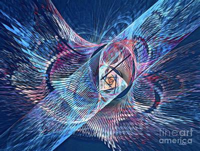 Digital Art - An Eagle's Dream by Jutta Maria Pusl