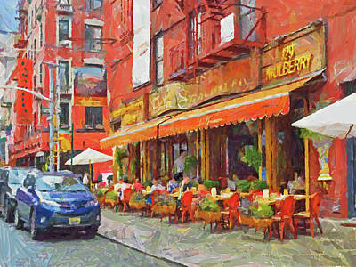 Digital Art - An Early Lunch On Mulberry Street by Digital Photographic Arts