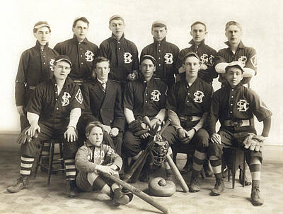 Baseball Team Photograph - An Early Sf Baseball Team by American School