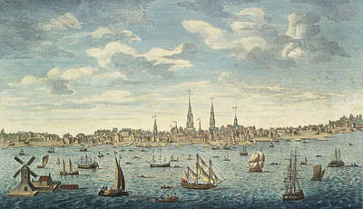 Harbor Drawing - An East Prospective View Of The City Of Philadelphia by George Heap