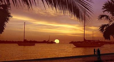 Digital Art - An East West Sunset by Richard Nickson