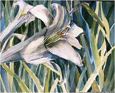 Art Print featuring the painting An Easter Lily by Mindy Newman
