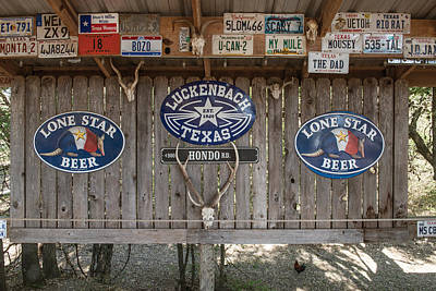 An Eclectic Display In Luckenbach Art Print
