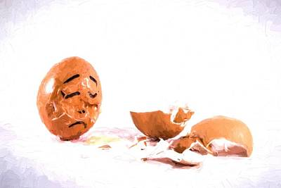 Photograph - An Egg Mourns Another Broken Friend by John Williams