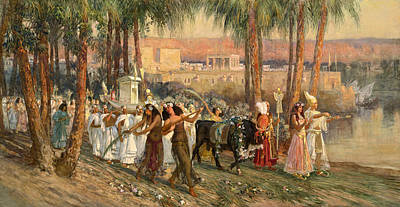 Painting - An Egyptian Procession by Frederick Arthur Bridgman