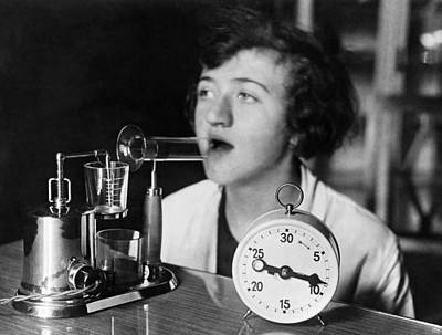 Inhale Photograph - An Electric Inhaling Apparatus by Underwood Archives