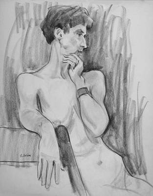 Drawing - An Elegant Pose by Robert Holden