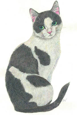 Painting - An Elegant Tuxedo Cat by Jingfen Hwu