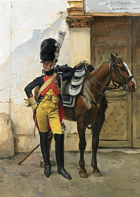 Painting - An Elite Soldier Of The Imperial Guard by Francois Flameng