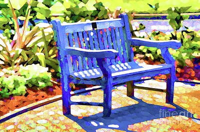 Maple Season Painting - An Empty Bench  by Lanjee Chee