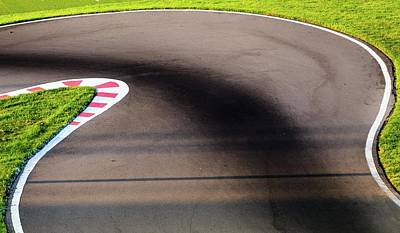 Go Kart Wall Art - Photograph - An Empty Bend On A Race Car Circuit by Alexandre Rotenberg