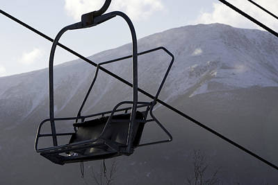 An Empty Chair Lift At A Ski Resort Art Print by Tim Laman