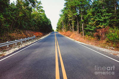 An Empty Road Art Print
