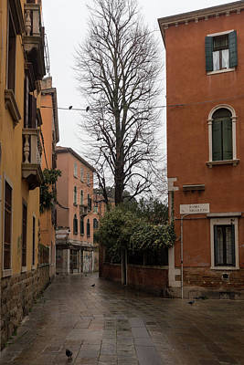 Photograph - An Empty Street In Venice by Georgia Fowler