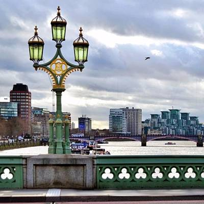 London Wall Art - Photograph - An Empty Westminster Bridge • #london by Carlos Alkmin