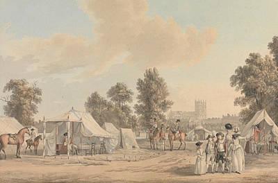 Encampment Painting - An Encampment In St. James Park by Paul Sandby