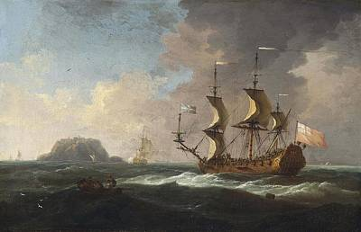 An Island Painting - An English Frigate Heaving by MotionAge Designs