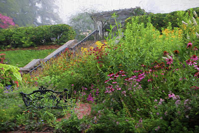 Photograph - An English Garden In The Mountains Of North Carolina by Carol Montoya