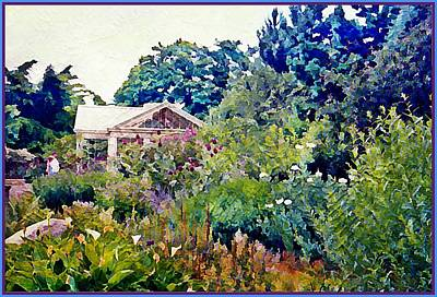 Wildlife Landscape Painting - An English Garden by Mindy Newman