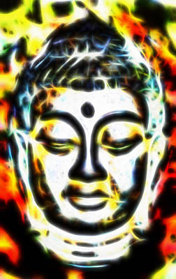 Budda Mixed Media - An Enlightened Or Divine by Sir Josef - Social Critic - ART