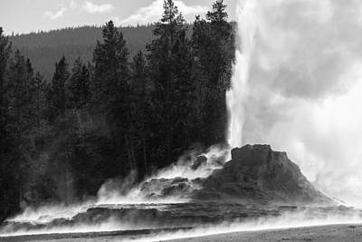 Photograph - An Eruption Of Castle Geyser by Janet Jones