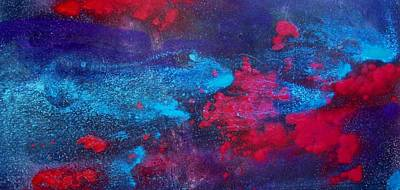 Red Painting - An Eruption Of Red by Louise Adams