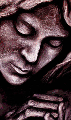 Contemplative Mixed Media - An Eternal Silence by Zoe Oakley